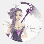 Fantasy Sorceress Classic Round Sticker
