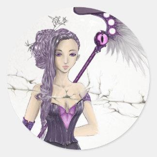 Fantasy Sorceress Round Stickers