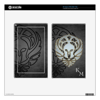 Fantasy Spartan Greek Warrior Black Kindle Skin