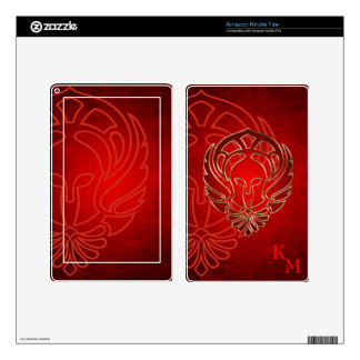 Fantasy Spartan Greek Warrior Red Kindle Skin
