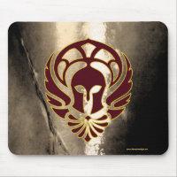 Fantasy Spartan Warrior Greek Metal Mouse Pad