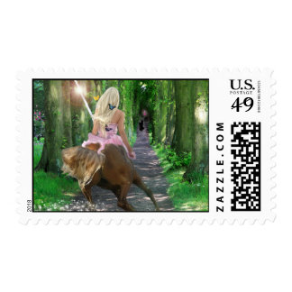 Fantasy Stamp:  The Good Centaur Postage Stamp