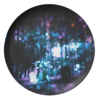 Fantasy Starry Forest 4 Dinner Plate
