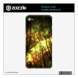 Fantasy Starry Forest Skin For iPhone 4S