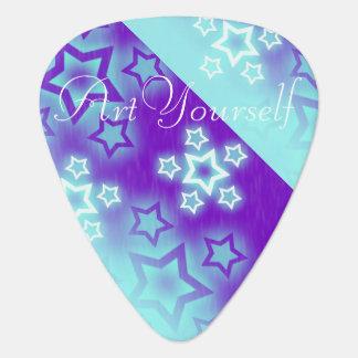 Fantasy Stars Palm Silhouette Sky Background Guitar Pick