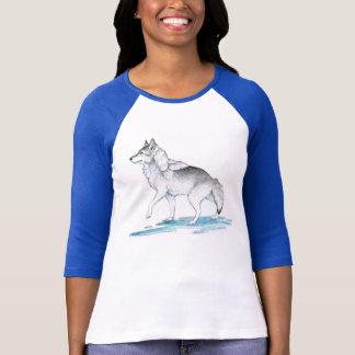 Fantasy Steel Grey Ice Creation Wolf T-Shirt