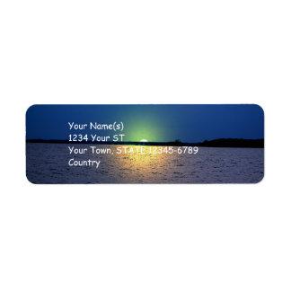 Fantasy Sunset - return address labels