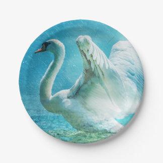 Fantasy Swan Paper Plate