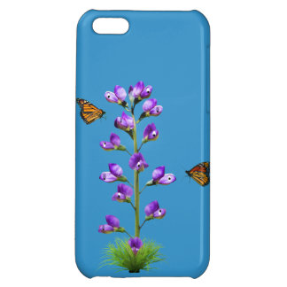 Fantasy Sweet Pea Flowers and Butterflies iPhone 5C Cases