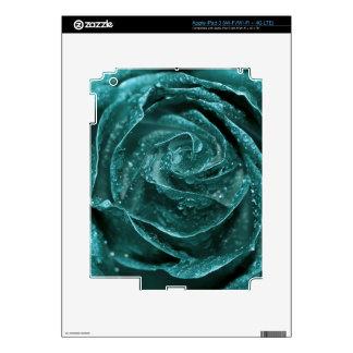 Fantasy Teal Rose Skins For iPad 3