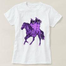 Fantasy Theme Purple Pegasus Winged Horse T-Shirt
