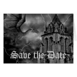 Fantasy theme wedding dragon Save the Date Stationery Note Card