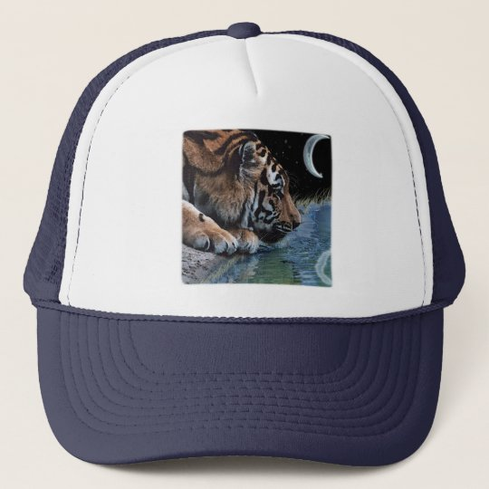 Fantasy Tiger & Moon Trucker Hat