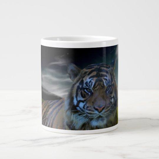 Fantasy Tiger Wild Cat Watercolor Art Giant Coffee Mug