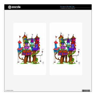 Fantasy Treehouse Decal For Kindle Fire