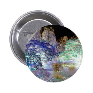 Fantasy Trees Abstract Landscape 2 Inch Round Button