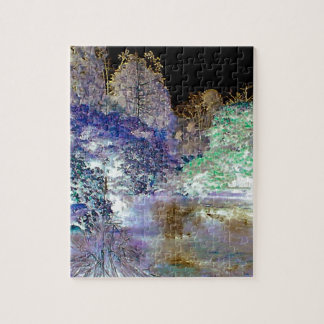 Fantasy Trees Abstract Landscape Puzzle
