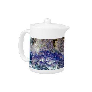 Fantasy Trees Abstract Landscape Teapot