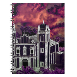 Fantasy Tropical Cityscape Aerial View Notebook