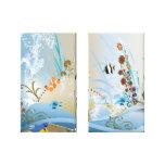 Fantasy Tropical Fish Aquarium Stretched Canvas Print