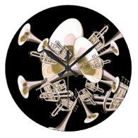 Fantasy Trumpets Music Lovers Wall   Clock