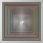 Fantasy Tunnel - Square Manadala Print