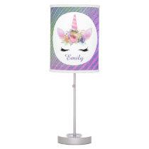 Fantasy unicorn add name room decor table lamp