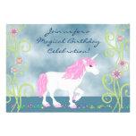 Fantasy Unicorn Birthday Invitation for Girls