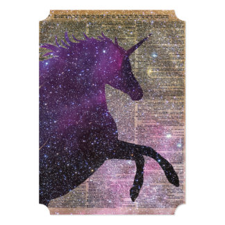 Fantasy Unicorn in the Space Card