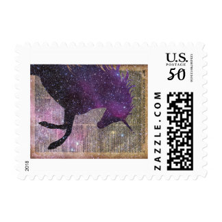 Fantasy Unicorn in the Space Postage