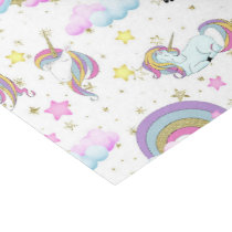 Fantasy unicorn pattern girls party tissue tissue paper