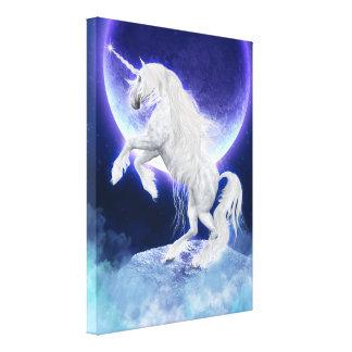 Fantasy Unicorn Stallion Purple Moon Canvas Print