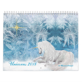 Fantasy Unicorns and Pegasus on Ice 2018 Calendar