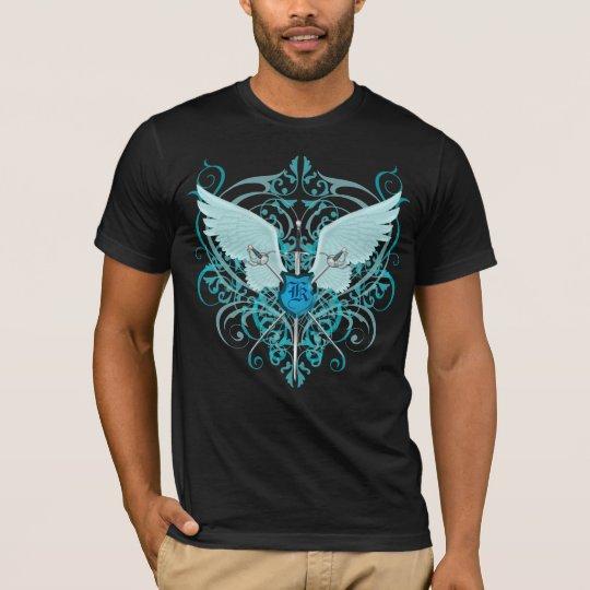 Fantasy Urban Winged Sword Crest Monogram T-Shirt