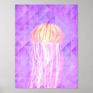 Fantasy Violet Purple Artistic Jellyfish Poster
