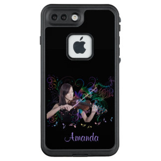 Fantasy Violin Fairy Playing Music Notes LifeProof® FRĒ® iPhone 7 Plus Case