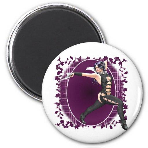 Fantasy Warrior 01 2 Inch Round Magnet