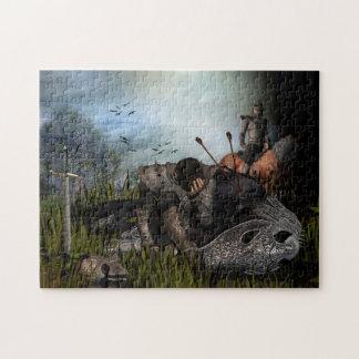 Fantasy Warrior and War Horse Jigsaw Puzzle