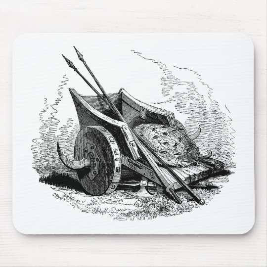 fantasy warrior chariot mouse pad