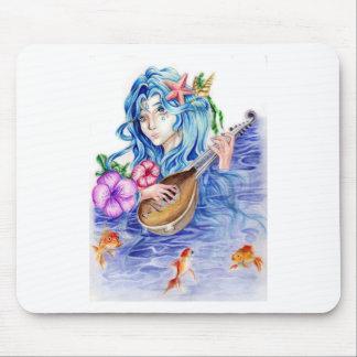 Fantasy Water Goddess Art Print Mouse Pad