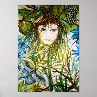 Fantasy Watercolor Rima's World Poster