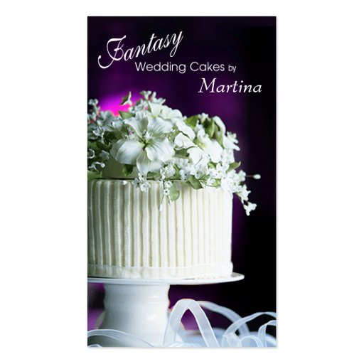 Fantasy Wedding Cakes Bakery Pastry Chef Business Card