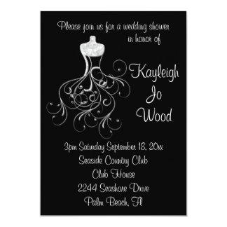 Fantasy Wedding Gown Shower Invitation