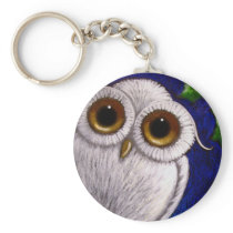 FANTASY WHITE BABY SNOWY OWL Keychain