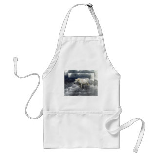 Fantasy White Horse & Ocean Surf Gifts Adult Apron