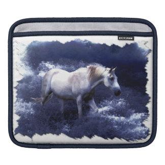 Fantasy White Horse & Ocean Surf iPad Sleeve