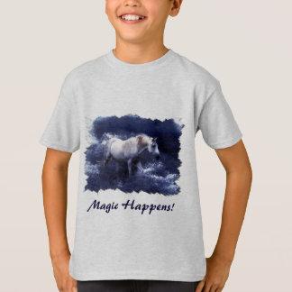 Fantasy White Horse & Ocean Surf t-shirt