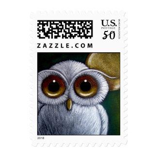 FANTASY WHITE OWL Postage