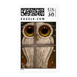 FANTASY WHITE SNOWY OWL Postage