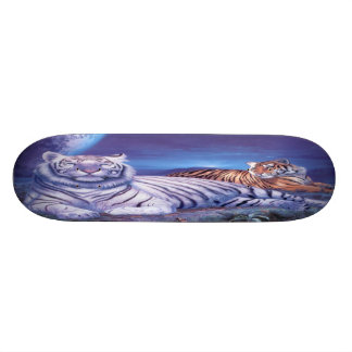 Fantasy White Tiger Cat Custom Skate Board